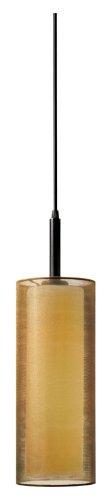 (Sonneman 6006.51F, Puri Cylinder Pendant, 1 Light Fluorescent, Black Brass)