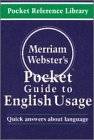 Merriam-Webster's Pocket Guide to English Usage, Merriam-Webster, Inc. Staff, 0877795142