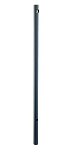 Post Black 7 Lights (Acclaim 95-320BK Direct-Burial Lamp Posts Collection Smooth Lamp Post with Photocell, 7', Matte Black)