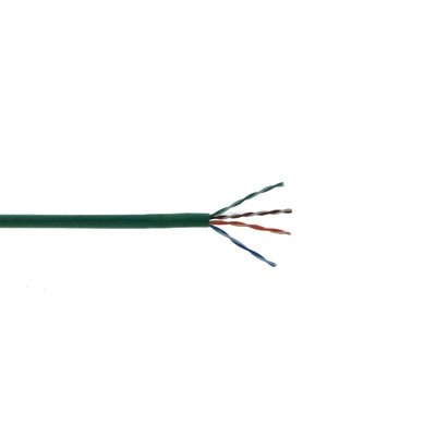 (CAT5E 350 MHz 24 AWG Solid 4PR UTP, PVC JKT- Green- 500 FT Box Distributed by NAC Wire and Cables)