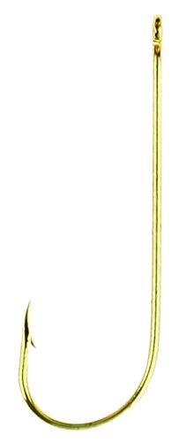 Eagle Claw 202EL-4 Classic Hooks, 100-Pack, Gold - Aberdeen Hooks