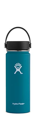 (Hydro Flask 18 oz Water Bottle | Stainless Steel & Vacuum Insulated | Wide Mouth with Leak Proof Flex Cap |)