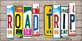 Road Trip License Plate Art Wood Pattern Novelty License Plate Tag Sign ...