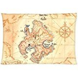 Peter Pan Neverland Map Pillowcases 20x30 Inch (Peter Pan Pillow compare prices)
