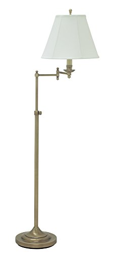 House Of Troy CL200-AB Club Collection Portable Floor Lamp,