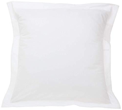 SCALABEDDING Scala Bedding European Square Pillow Shams Set of 2 Pieces 500 Thread Count White Solid Pillow sham Euro Square 26 X 26 +2 Inches 100% Egyptian Cotton