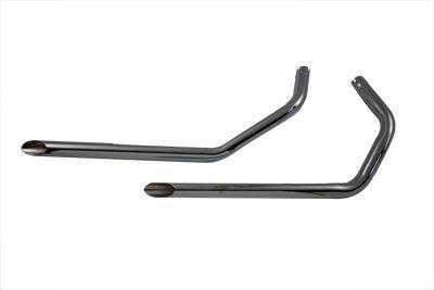 V-Twin 30-3010 Exhaust Drag Pipe Set Slash Cut -