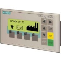 """Siemens 6AV6641-0AA11-0AX0 SIMATIC OPERATOR PANEL OP 73 3"""" LC DISPLAY, BACKLIT, WITH GRAPHICS CAPABILITY, MPI-/PROFIBUS-DP INTERFACE, UP TO 1.5MB, CONFIGURABLE WINCC FLEXIBLE 2004 COMPACT HSP UPWARDS"""