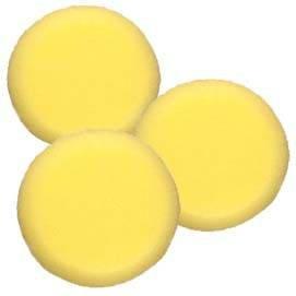 Malschwamm rund, gelb, Durchmesser ca. 8cm, 3 Stk [Spielzeug]