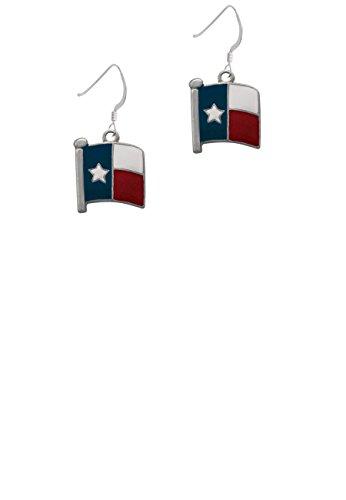 Texas Flag - Lone Star - French Earrings