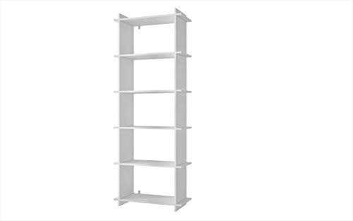 Manhattan Comfort Gisborne Open Bookcase 1.0 Collection Modern 5 5helf Bookcase, White