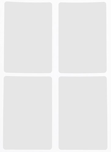 Labels Inventory White Rectangle (Name tag Sticker Labels in White 3x2 - Rectangular Label (7.5cm x5cm) - 60 Pack by Royal Green)
