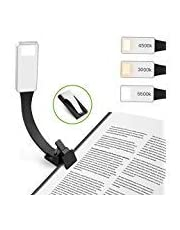 Anjoo LED 3 Brightness Modes Clip On Book USB Rechargeable Lamp, Flexible USB Light for Night Reading in Bed