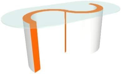 Zespoke Blanco Exterior Mónaco Cristal Mesa de café: Amazon.es: Hogar