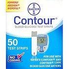Contour Test Strips 50ct - Bayer Diabetes 7080