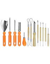 Pumpkin Carving Tools Kit,QYUKUYU 13 Pieces Professional Stainless Steel Pumpkin Carving Tools Set for Kids and Adults, Perfect For DIY Craft Halloween Decoration ()