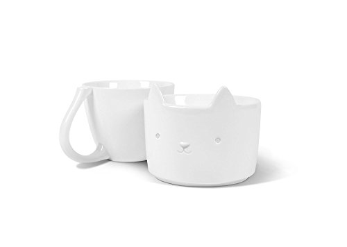 Fred 5229133 Purr Over Cat-Style Porcelain Pour Over Coffee Brewer, White by Fred & Friends (Image #3)