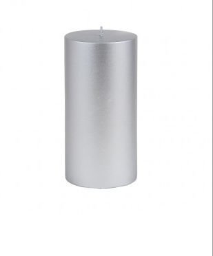 Zest Candle Pillar Candle, 3 by 6-Inch, Metallic ()