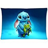 Lilo Stitch Custom Zippered Pillow Cases Soft Confortable 20x30 (Twin Sides)