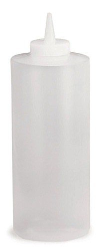 Tablecraft 233C 32 Oz. Wide Cone Tip Natural Squeeze Dispenser - Dozen