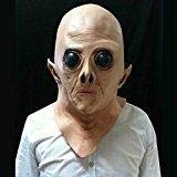 XuBa UFO Alien Extra Terrestrial ET Vinyl Full Head Mask with Big Eyes for Holloween Party zk30 None None