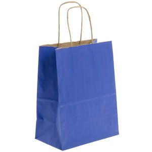 Royal Blue Kraft Paper Gift Bag, 8'' x 10 1/2'', Pack of 250 by Retail Resource