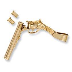 Or jaune 9 carats-Shot-Mobile amovible-Pistolet + jumelle + balles