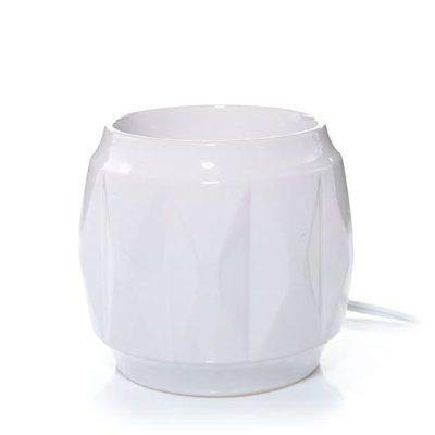 Yankee Candle New White Geometric Pattern with Timer Scenterpiece Easy MeltCup Warmer by Yankee Candle (Image #3)