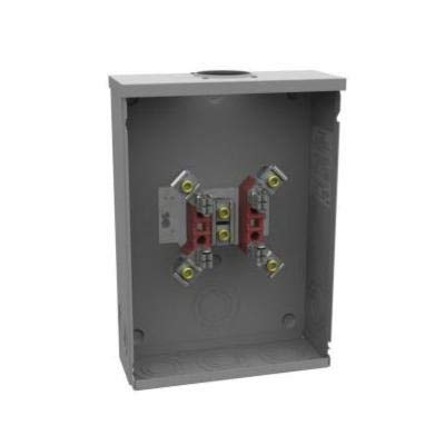 Milbank U8878-RL-LR Ring Meter Socket, 600 VAC, 200 A, 1 Phase, NEMA 3R Enclosure
