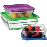 Libbey Stackit Glass Bakeware, Server & Storage set - 6 pieces