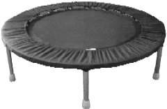 Needak Trampoline Mini (Needak Folding Hard-Bounce rebounder Black R03 Holds over 300 pounds)