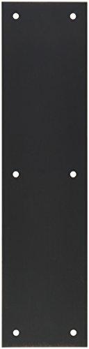 Push Plates Door Accessories (Baldwin 2121 3 Inch x 12 Inch Solid Brass Square Edge Push Plate, Venetian Bronze)