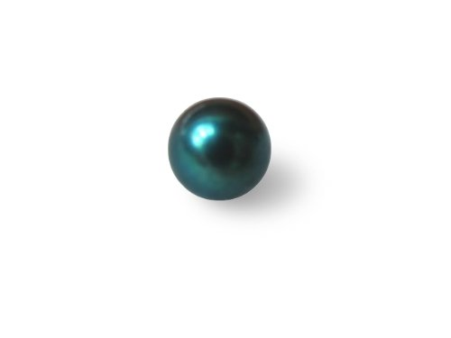 Genuine Cultured Akoya Pearl 6.5-7 mm Half Drilled Saltwater Dyed Black (blue overtone) - loose -SKU#: ls4