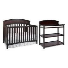Graco Charleston Classic Two Piece Convertible Crib Set Crib And Changing  Table Cherry