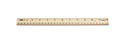 School Smart 1565400 12 in. Double Beveled Edge Wood Ruler - Pack of (Double Beveled Edge Ruler)