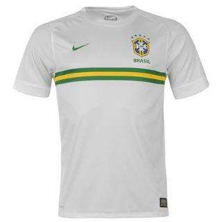 Nike Brasil CBF Prematch Top II Men s Short-Sleeved Shirt white dark teal  b1eb89ef0af0b