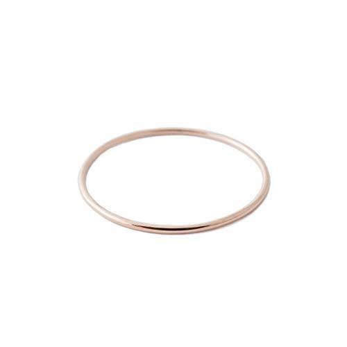 HONEYCAT Super Skinny Stacking Ring in 14K Rose Gold, Size 7 (RG) ()