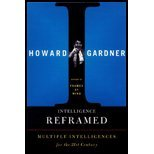 img - for Intelligence Reframed (99) by [Paperback (2000)] book / textbook / text book