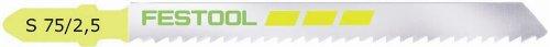 - Festool 486548 S 75/2.5 Fine-Cut Jigsaw Blade, 3 Inch, 10 TPI, 5-pack