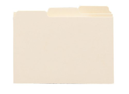 (Smead Card Guide, Plain 1/3-Cut Tab (Blank), 6