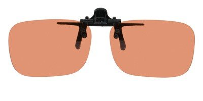 Copper Mens Sunglasses (Polarized Clip-on Flip-up Plastic Sunglasses - Deep Rec - 54mm X 36mm - Polarized Copper Lenses - Shade Control D-Clips)