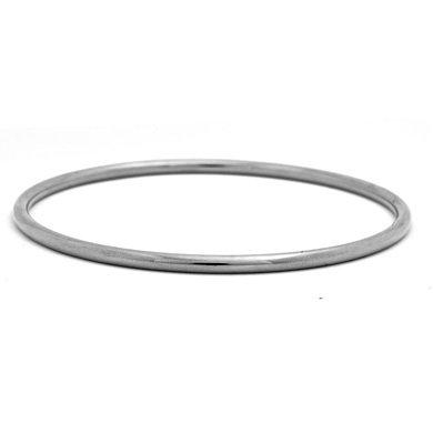 2,9mm Or Blanc 14Carats Massif à enfiler-Bracelet Jonc 17,8cm