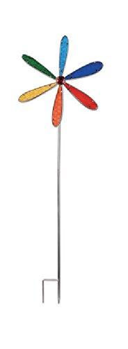 - Sunset Vista Designs 92585 Pinwheel Wind Spinner Garden Stake, Multi-Color