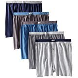 Fruit of the Loom Men\'s Big Soft Stretch-Knit Boxer (Pack of 5) (XXL(44-46\