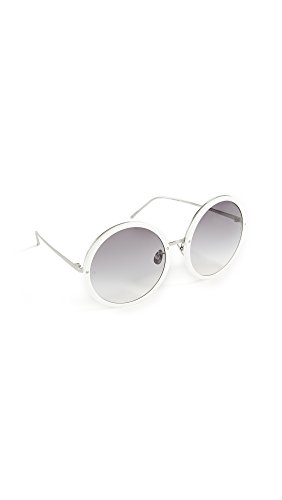 Linda Farrow Luxe Women's Oversized Round Sunglasses, White/Grey, One - Farrow Linda Sunglasses Oversized
