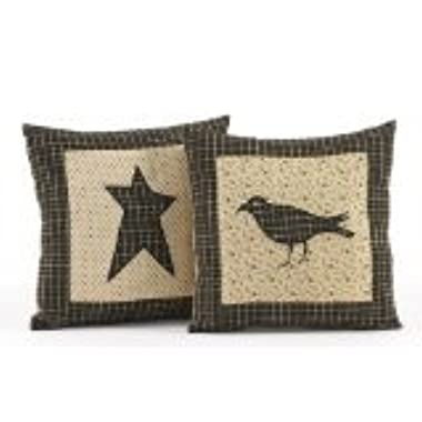 Kettle Grove 10  Crow Decorative Pillow