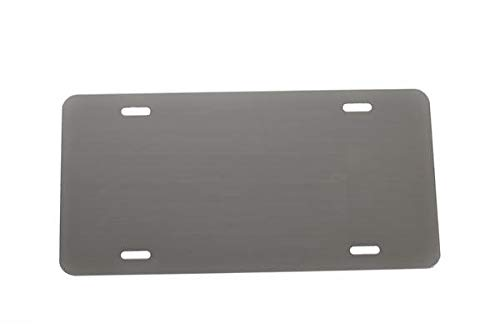 - Partsapiens Corp Anodized Aluminum License Plate Blank Heavy Gauge .040 (1mm) Thickness - Made in USA