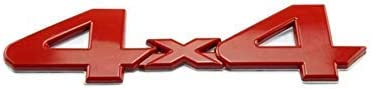 Dinona T-44R 4X4 Metal Red Side Fender Front Door Badge Nameplates Emblems For Toyota Tacoma Tundra Ram 1500 2500