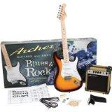 Archer SS10JRPAKSB Blues and Rock Junior Electric Guitar Package, Sunburst