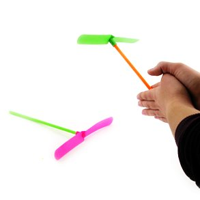 Rhode Island Novelty Plastic Flying Dragonfly Toys - 12 Pack